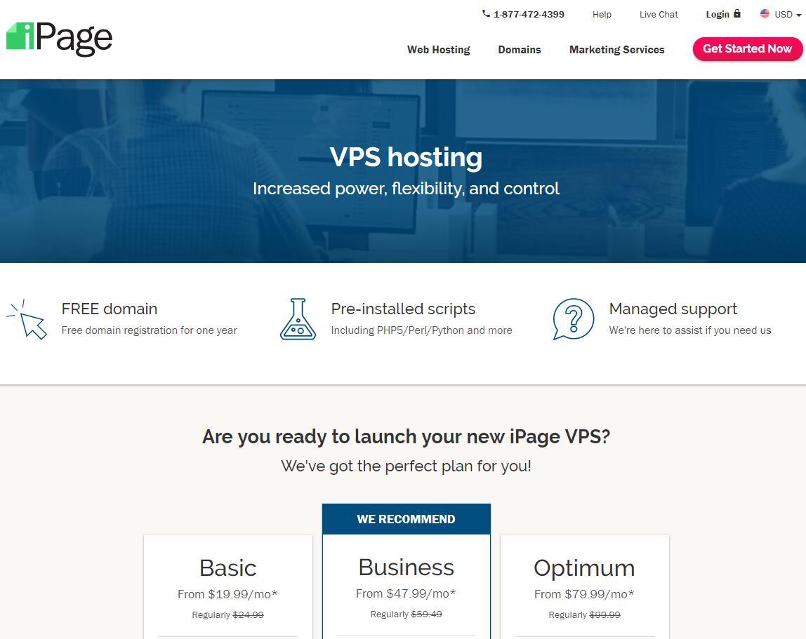 美国VPS iPage购买页面