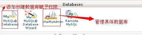 cpanel教程数据库管理