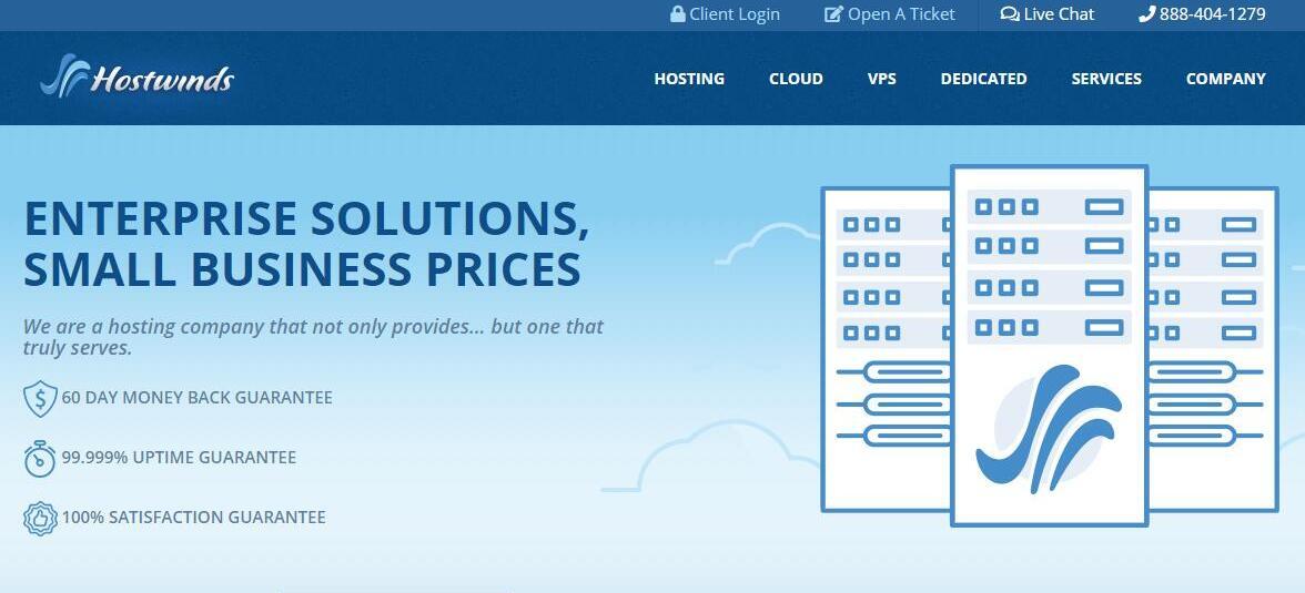 国外 VPS Hostwinds - 支持支付宝,速度快